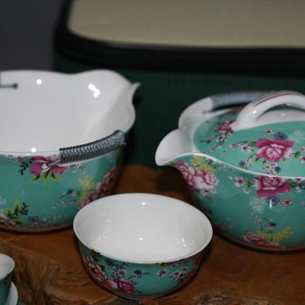 花團錦簇旅行茶具組--綠