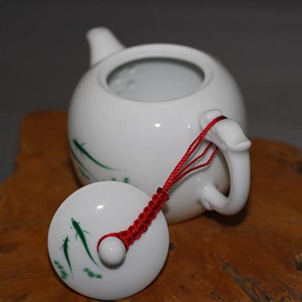 草綠魚玉瓷壺
