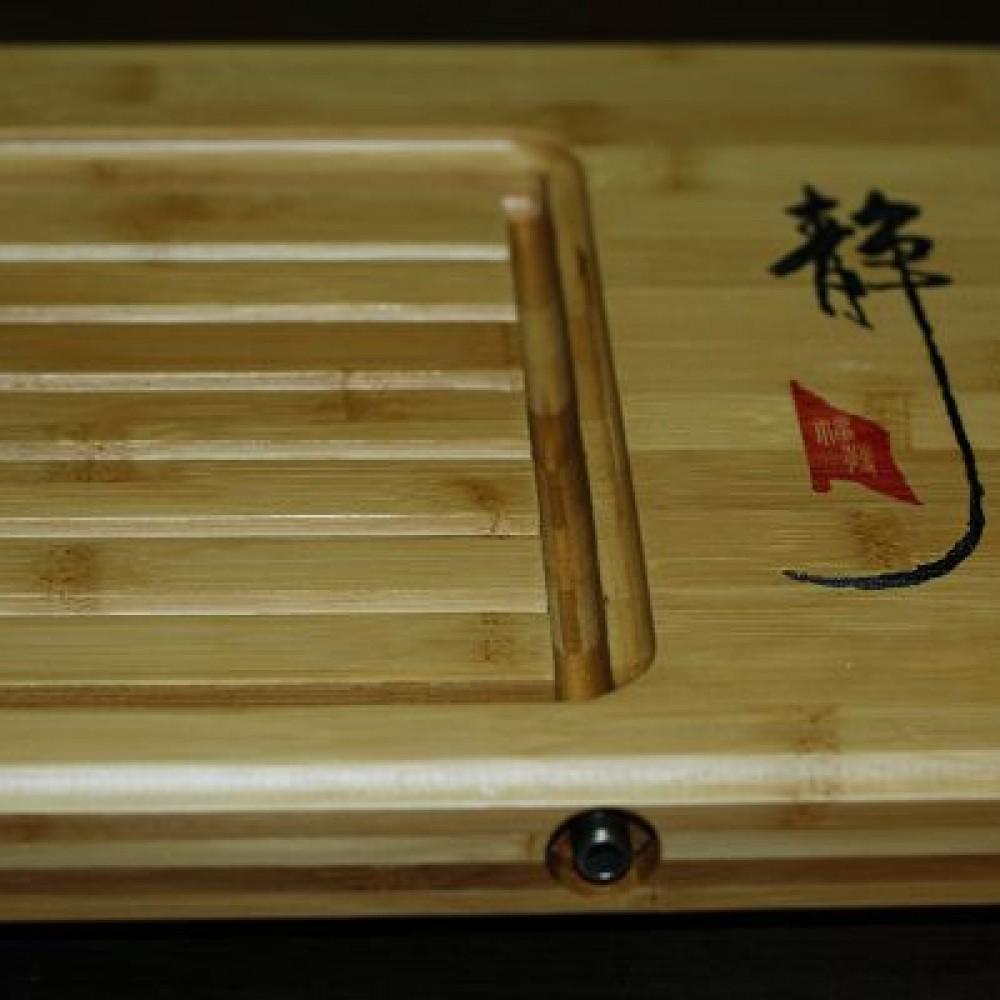 靜心排水大竹茶盤