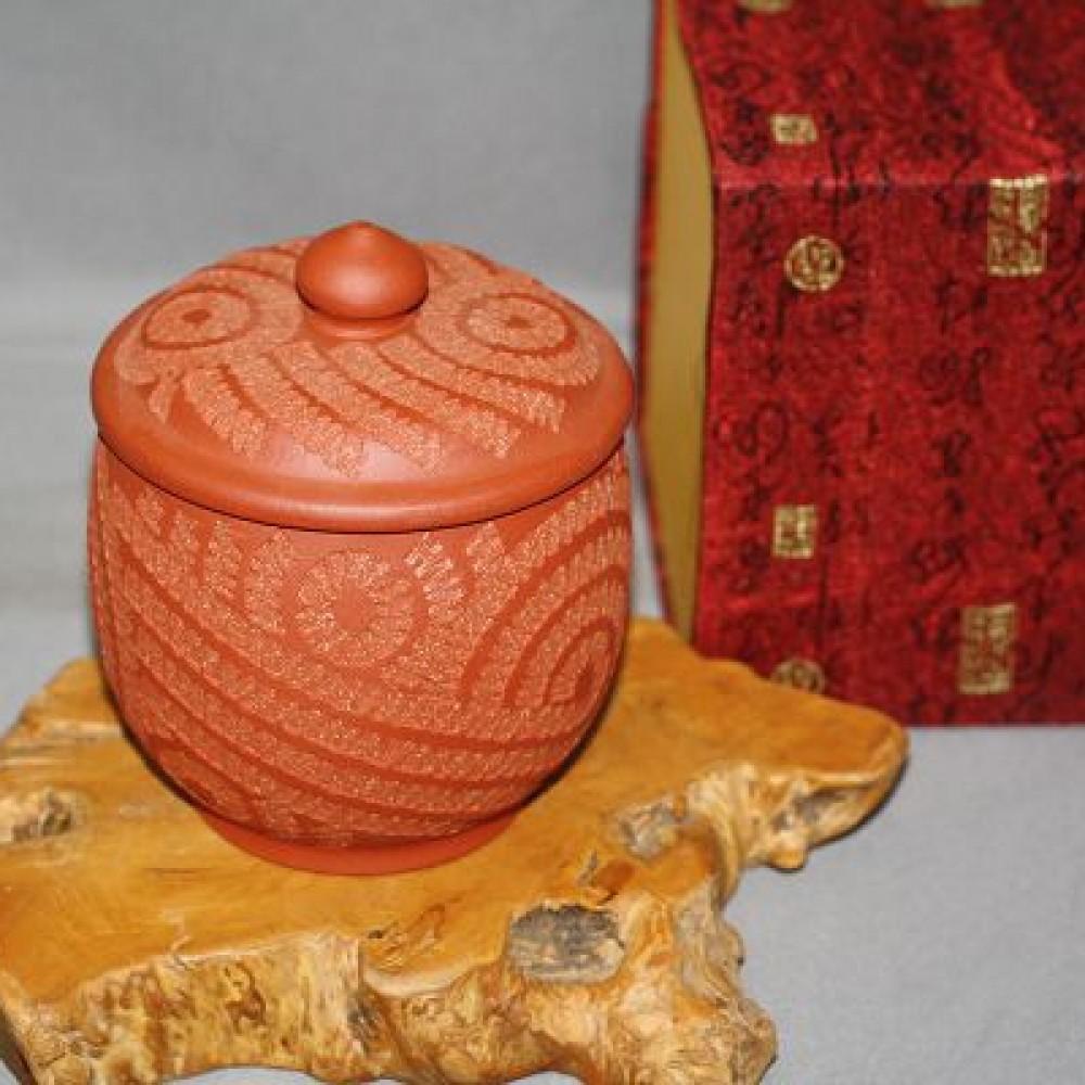 紫砂古紋5兩茶罐