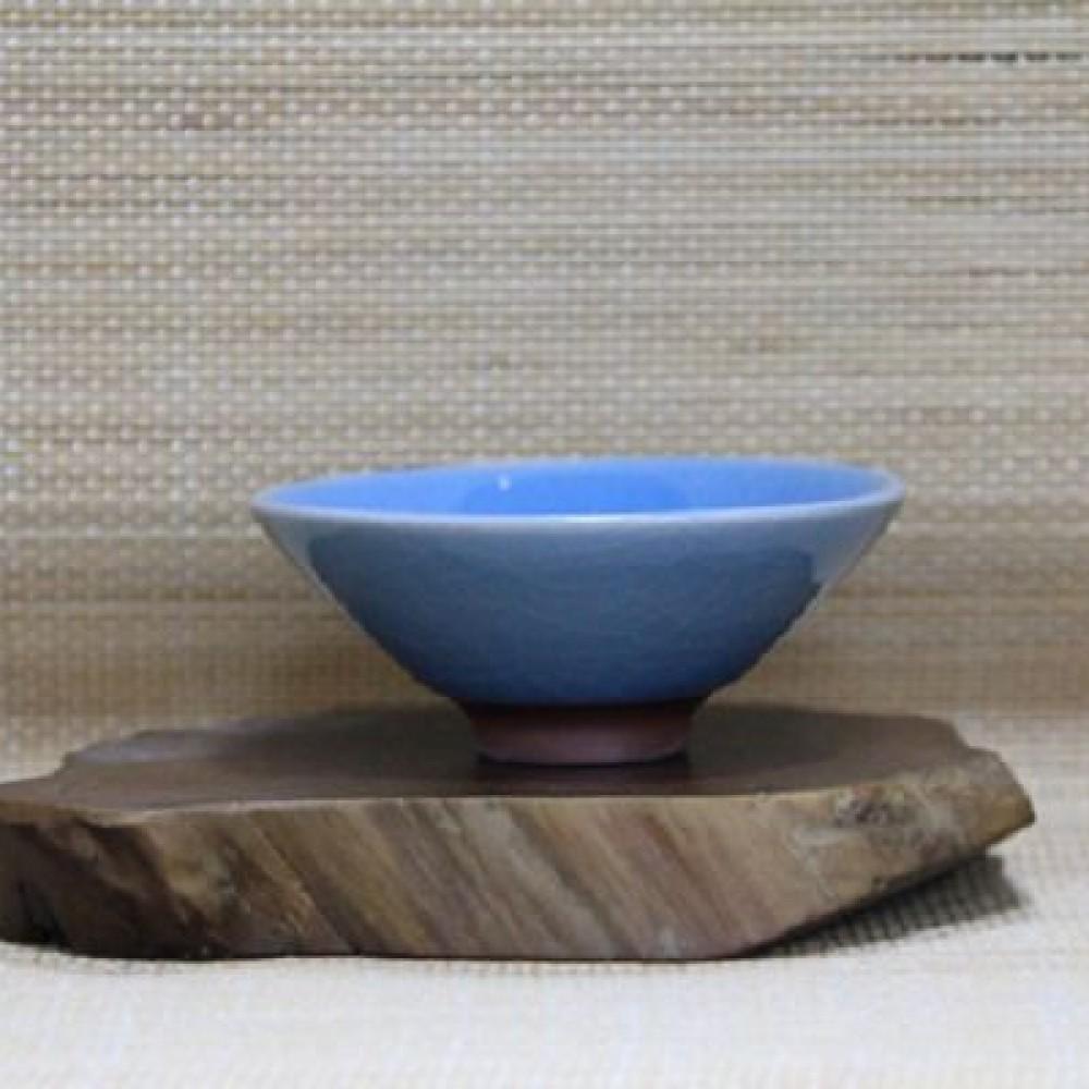 唐宋六大名窯斗笠杯--青瓷藍