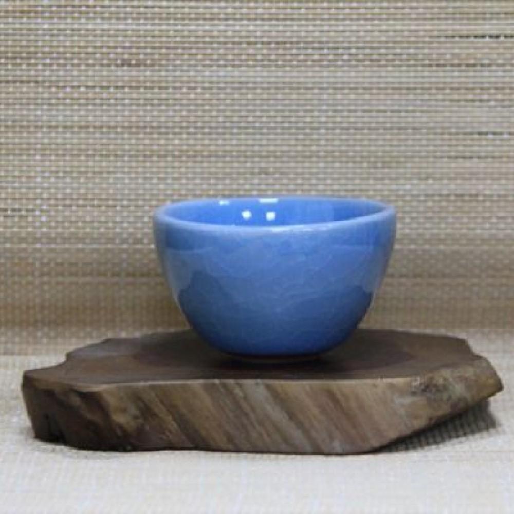 唐宋六大名窯不倒杯--青瓷藍