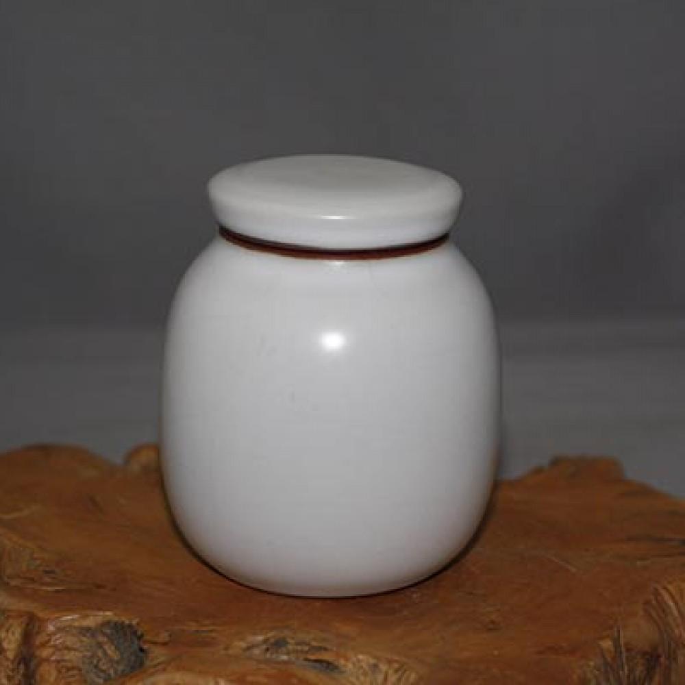 汝窯珍珠白2兩茶葉罐