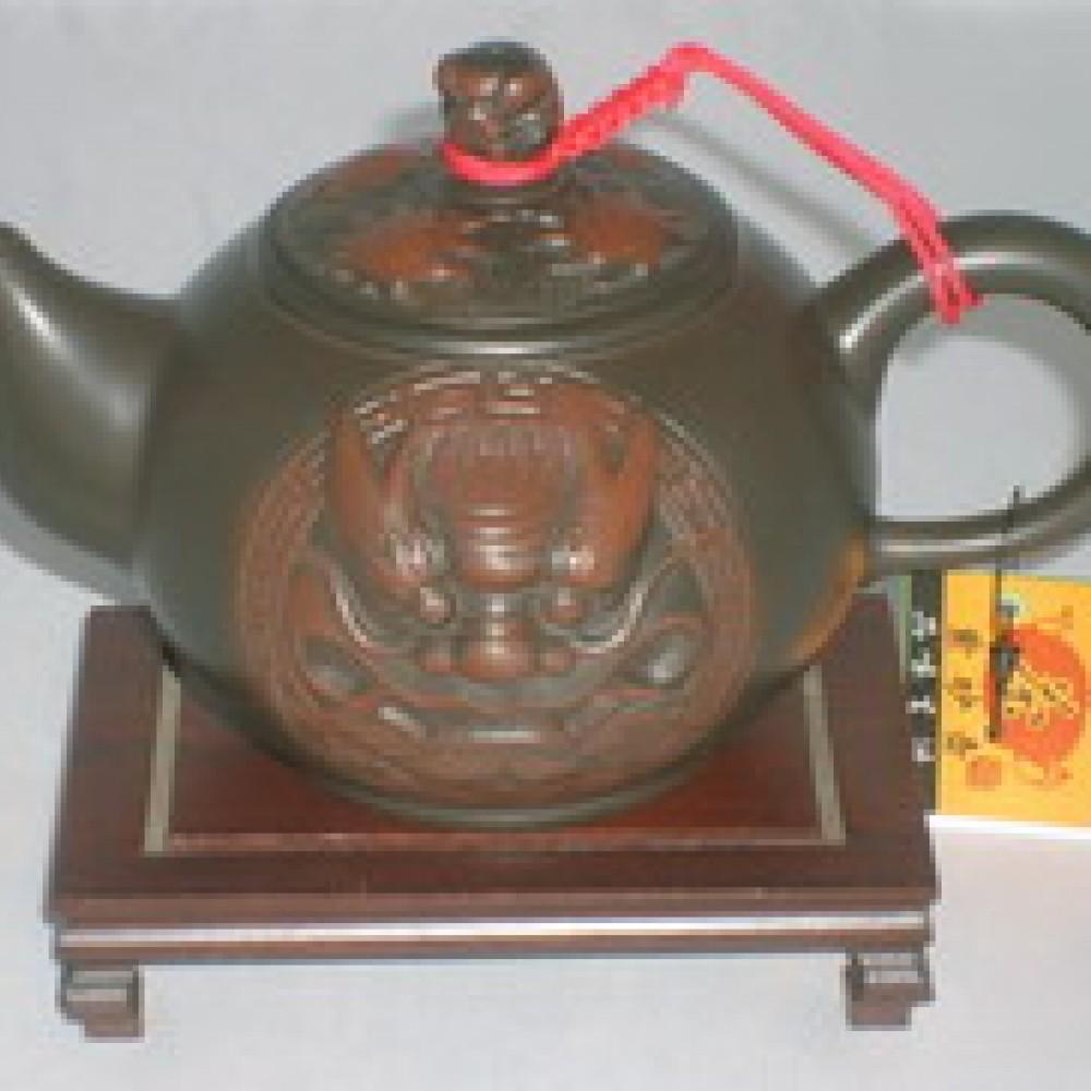 399紫砂壺(窯變雙獅)