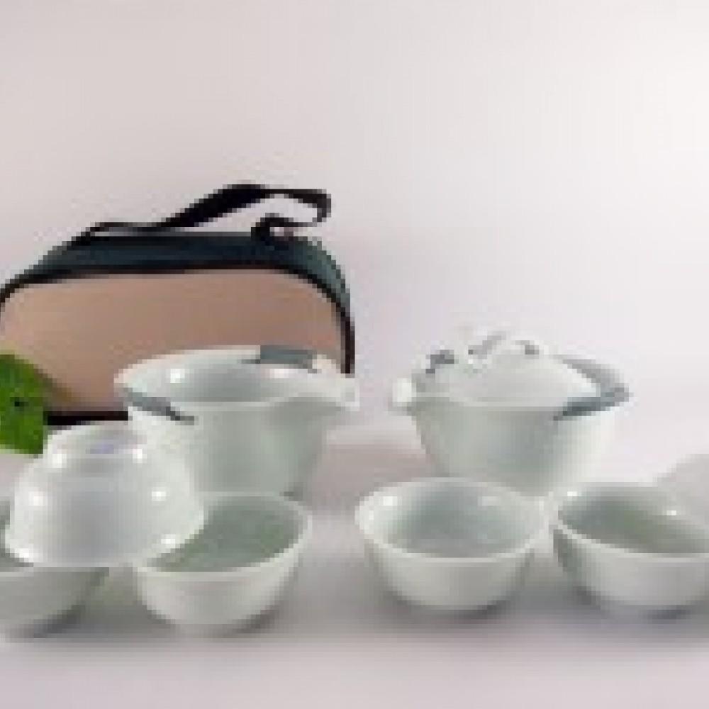 影青如意旅行茶具組